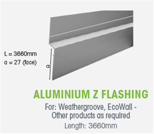 Wtex Z Flashing Alum 3660Mm | Agnew Building Supplies