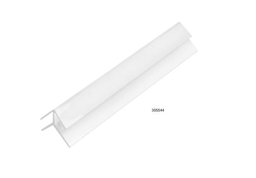 PVC CORNER MOULD EXTERNAL JOINT WHITE 6.0mm x 3000mm