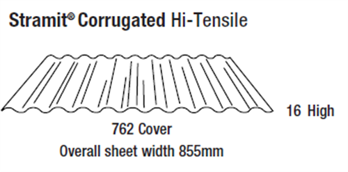 ROOFING - CORRUGATED (covers 762mm)