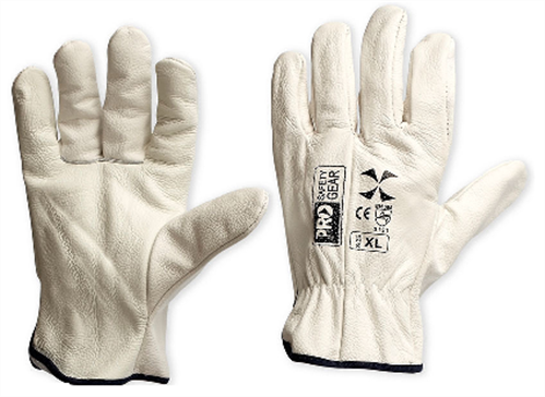 GLOVES LEATHER RIGGERS BEIGE COWHIDE