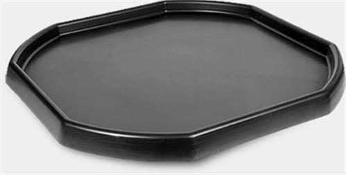TRAY ALL PURPOSE DURABLE PLASTIC BLACK 940 X 940mm
