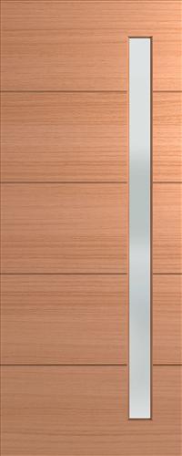 HUME DOOR XLR160 LINEAR ENTRANCE GLAZED TRANSLUCENT 2340 x 1200 x 40mm (DAMAGED)