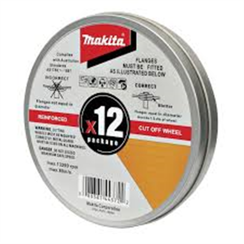 MAKITA INOX CUTTING DISCS TIN of 12 -