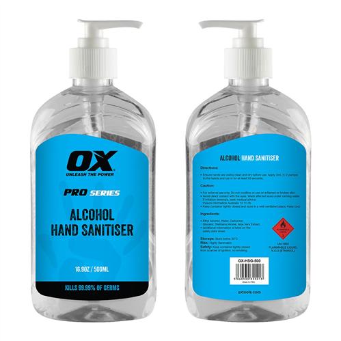 SANITISER - HAND (ALCOHOL) 500ml
