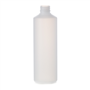 BOTTLE STD. ROUND NATURAL HDPE 500ml