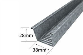 FURRING CHANNEL 0.50BMT #129 - 28mm (h) x 38mm (face)