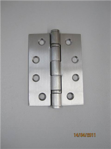 HINGE BUTTON TIPPED LOOSE PIN SATIN STAINLESS STEEL 100 x 75 x 2.5mm