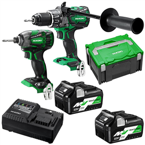 HIKOKI (HITACHI) 2 PIECE PACK MULTIVOLT BRUSHLESS COMBINATION KC36DBDL(HRZ)