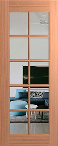 HUME DOOR BUDGET JOINERY (MERANTI) CLEAR GLASS 2040 x 820 x 40mm
