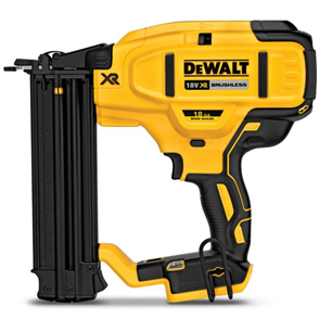 DEWALT 18V XR LI-Ion BRUSHLESS 18GA FINISH NAILER SKIN