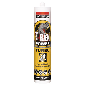 SOUDAL T-REX POWER TURBO WHITE 290ml