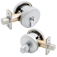 G2 SINGLE CYL SMOOTH RND DEADBOLT 20mm THROW