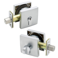 G2 SINGLE CYL SMOOTH SQ DEADBOLT 20mm THROW