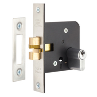 DOUBLE CYL SLIDE DOOR LOCK SC 60