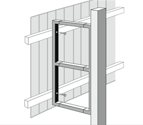 FORTRESS FENCE PANEL END FRAME 710mm HIGH