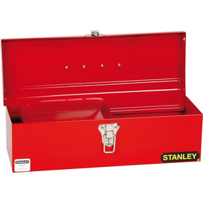 TOOL BOX STANLEY SMALL W/- SLIDING HALF TRAY