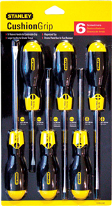SCREWDRIVER SET STANLEY CUSHION GRIP 6PCE