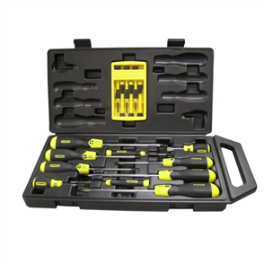 SCREWDRIVER SET STANLEY CUSHION GRIP 16PCE