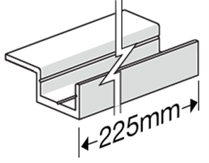 HARDIEDECK™ BASE JOINER w/- SCREWS SINGLE WING 225mm PK35