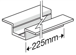 HARDIEDECK™ BASE JOINER w / - SCREWS DOUBLE WING 225mm PK35