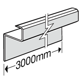 HARDIEDECK™ SLIMLINE EDGE CAP 3000mm