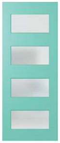 DOOR NEX35 NEXUS  SPM (STAIN GRADE) (FL / BEAD / 2S) GLAZED CLEAR