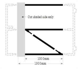 FORTRESS GATE HORIZONTAL RAILS &  DIAGONAL for 1400 - 1649mm HIGH