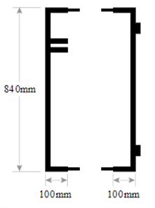 FORTRESS GATE END FRAMES for 400 - 1800mm WIDTH