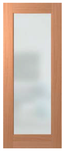 HUME DOOR JST1 JOINERY MERBAU GLAZED CLEAR (W/-SAFETY DECALS)
