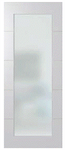 HUME DOOR HLR210 LINEAR PRIMECOAT (PCMDF) GLAZED CLEAR