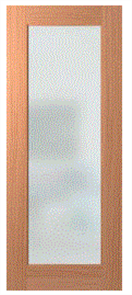 HUME DOOR LIN1 JOINERY SPM (STAIN GRADE) DOUBLE GLAZED FROST 2040 x 820 x 35mm