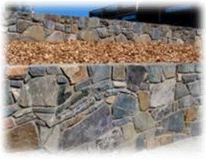 WJS NATURAL DIMENSION STONE WALL ROCK - LOOSE