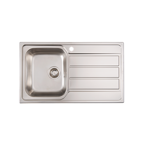 SINK 1TH MS100S - INOX 86X50 1B 1D LHB + OVERFLOW (DLTD)