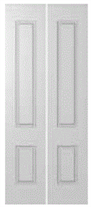 HUME DOOR BF29 HUMECRAFT HMC4 BI-FOLD (LEAF ONLY) PCMDF (PAINT GRADE) HOLLOW CORE