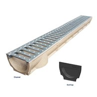 RELN 100MM POLYMER CONCRETE CHANNEL & GALV GRATE