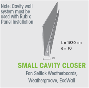 WTEX CAVITY CLOSER SMALL 10mm x 1830mm