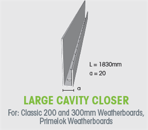 WTEX CAVITY CLOSER LARGE 20mm x 1830mm
