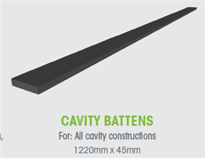 WTEX CAVITY BATTEN 45 x 9.5 x 1220mm