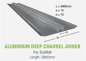 WTEX DEEP CHANNEL JOINER ALUMINIUM 3660mm