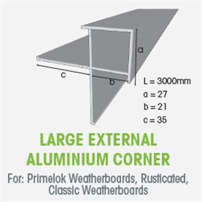 WTEX LARGE EXTERNAL ALUMINIUM BOX CORNER 3000mm