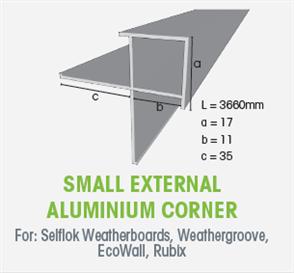 WTEX SMALL EXTERNAL ALUMINIUM BOX CORNER 3660mm