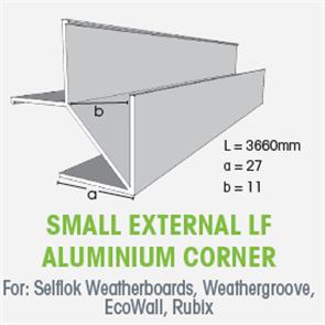 WTEX SMALL EXTERNAL LF ALUMINIUM CORNER 3660mm