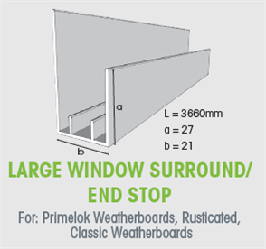 WTEX LARGE WINDOW SURROUND / END STOP 3660mm