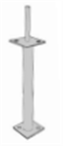 POST SUPPORT PIN TYPE GALVANISED w / - 300mm LEG