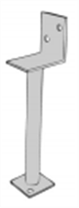 POST SUPPORTS L PLATE GALVANISED