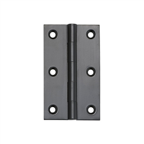 HINGE - FIXED PIN BLACK WITH SCREWS 89 x 50mm