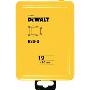 DRILL BIT HSS SET DEWALT HIGH PERFORMANCE
