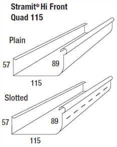 GUTTER - HI FRONT QUAD 115mm