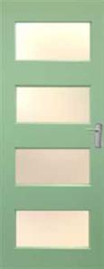 DOOR NEX35 NEXUS DURACOTE (TEMPERED HARDBOARD) GLAZED TRANSLUCENT 2040 x 820 x 40mm