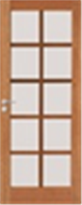 DOOR WINWS 40 GLAZED CLEAR 10 LITE 2040 x 820 x 35mm